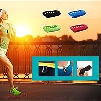 【ノーブランド品】 Fitbit One用 シリコンクリップホルダー 交換用 クリップ ベルト ホルダー ケース カバー スポーツ ランニング ジョギングに 全10色選べる - グリーン
