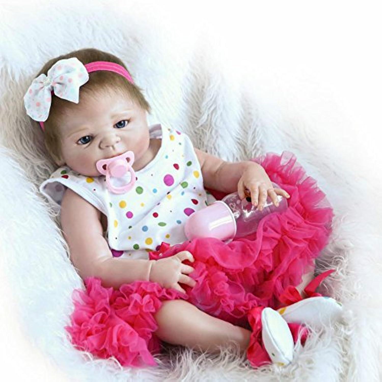 Rebornベビー人形22インチLifelike生まれフルボディシリコンガールズ解剖学的に正しいビニールRealキッズギフトマグネットMouth Toys