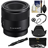Sonyアルファe-mount FE 50mm f / 2.8マクロレンズwith 3UV/CPL / nd8フィルタ+フード+キット