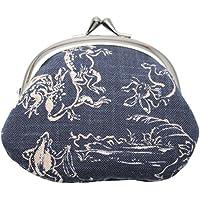 がま口財布 和柄財布 男物3.3寸がま口 鳥獣戯画コン