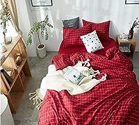HUROohj コットン、新しい寝具 4セット、ヨーロッパスタイル、寝具キット、ベッドサイズ ツイン/クイーン/キング、£ 4 ピース。 Twin/Queen 6543212