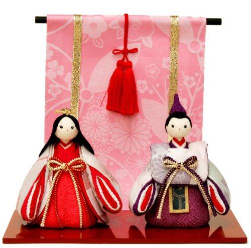 雛人形 ひな人形 コンパクト ちりめん細工 ふっくら立姿雛 お雛様 / 平飾り / 立ち雛