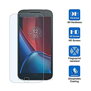 Motorola Moto G4 Plus 専用強化ガラスフィルム AVIDET 9H硬度の液晶保護 0.3mm超薄型【国産ガラス素材】耐指紋 撥油性 高透過率 ラウンドエッジ加工