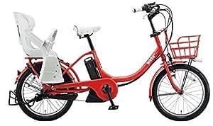 BRIDGESTONE(ブリヂストン) ビッケツーe リヤチャイルドシート装着モデル 幼児2人同上基準適合車 BAA適合 BK0C26 E.XBKレッド