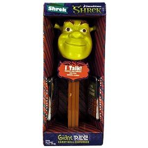 Shrek シュレック The Third - Shrek シュレック - Talking Giant Pez Candy Dispenser フィギュア ダイキャスト 人形(並行輸入)