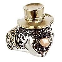ジナブリング (JINA BRING) ハード リング シルバー925 ピエロリング ツーフェイス スカル ピエロ 骸骨 指輪 #25