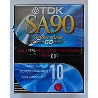 TDK sa90 High Bias CDスーパーAvilynタイプIIオーディオカセットテープ – 10個パック