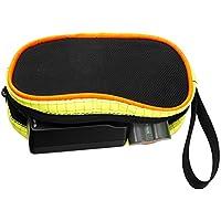 forapid Smallケーブル管理ジッパーバッグwithハンドルUSBのFirewireケーブルとのアダプタマイク/携帯電話ポケットWizards電池外部ハードドライブイヤホンetc-yellow /オレンジ/ブラック