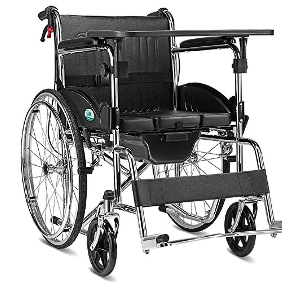 禁じる別れる美容師QFFL 車いすアルミフォールディング手動車いす身体障害者高齢者障害者手ブレーキポータブルハンドプッシュスクーターブラック 松葉杖ウォーカー