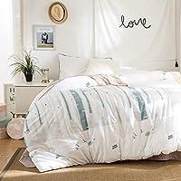 WCH 寝具布団、寝室のリゾートのソファのための洗濯機で洗える綿抗しわベッドカバー (Color : E, サイズ : 200x230cm(79x91inch))