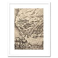 Callot French Siege La Rochelle Picture Framed Wall Art Print フランス語画像壁