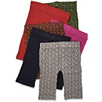 Girls -Little Girls & Youth 6 Pack Cotton Stretch 8 inch Under Dress/Slip Shorts/Bike Short/Capri Leggings