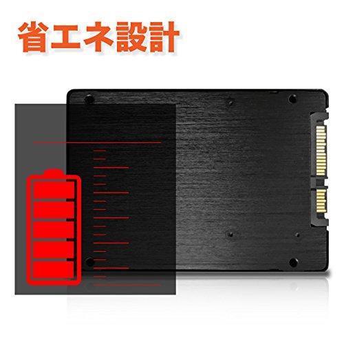 『Pasoul SSD ノートパソコン 増設用 3D TLC NAND採用 新品 2.5インチ 内蔵型SSD 日本国内三年保証 SATA 6Gbps Read(MAX)550 Write(MAX)400MB/s (120GB)』の7枚目の画像