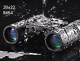 Dafanet 人気 ミニ 望遠鏡 双眼鏡 20x22倍 HDレンズ ナイトビジョン コンパクト BAK4プリズム 光学ズーム 高倍率 望遠ズームレンズ ズーム望遠鏡 小型 軽量 コンサート/ 旅行 / アウトドア/ スポーツ / ライブ / 夜景 など アウトドア