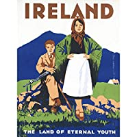 Breslin Ireland Eternal Youth Railway Travel Advert Cropped Large Print Poster Wall Art Decor Picture アイルランド鉄道旅行広告ポスター壁デコ画像