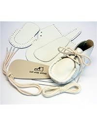 本革製ファーストシューズの手作りキットオール白9cm