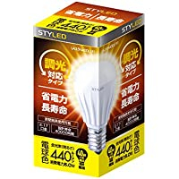 STYLED LED電球(調光器対応) 口金直径17mm 小形電球タイプ 5W 440lm (電球色相当・密閉器具対応・小形電球40W相当) LA38N40DL1P1
