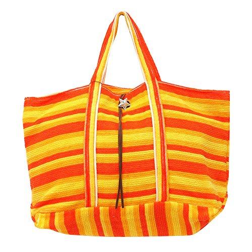 Ron Herman(ロンハーマン) x Sieste Peau(シエスタポー) Tote bag L (トートバッグ) ORANGE 277-002418-058 【新品】 [並行輸入品]