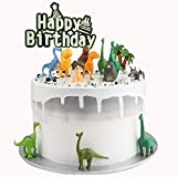 Autude Jurassic Dinosaur Set - Dinosaur Cake Topper,Birthday Party Supplies, Game Toy Party Collection(14pcs set)