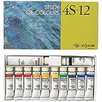 クサカベ 油絵具 習作用 油絵具セット 11色セット 4S-12 11ml+ホワイト20ml