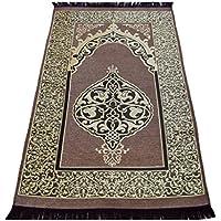 お祈りマット トルコ製 ムスリム礼拝用マット 礼拝用敷物(G) (茶色)