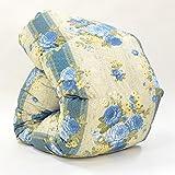 西川 羽毛布団 ホワイト グース ダウン 90% 日本製 抗菌 防臭 AI959 (シングル:150×210cm, ブルー)