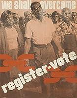 We Shall Overcome–登録票–ビンテージポスター(アーティスト: Crichlow ) USA C。1963 12 x 18 Art Print LANT-63277-12x18
