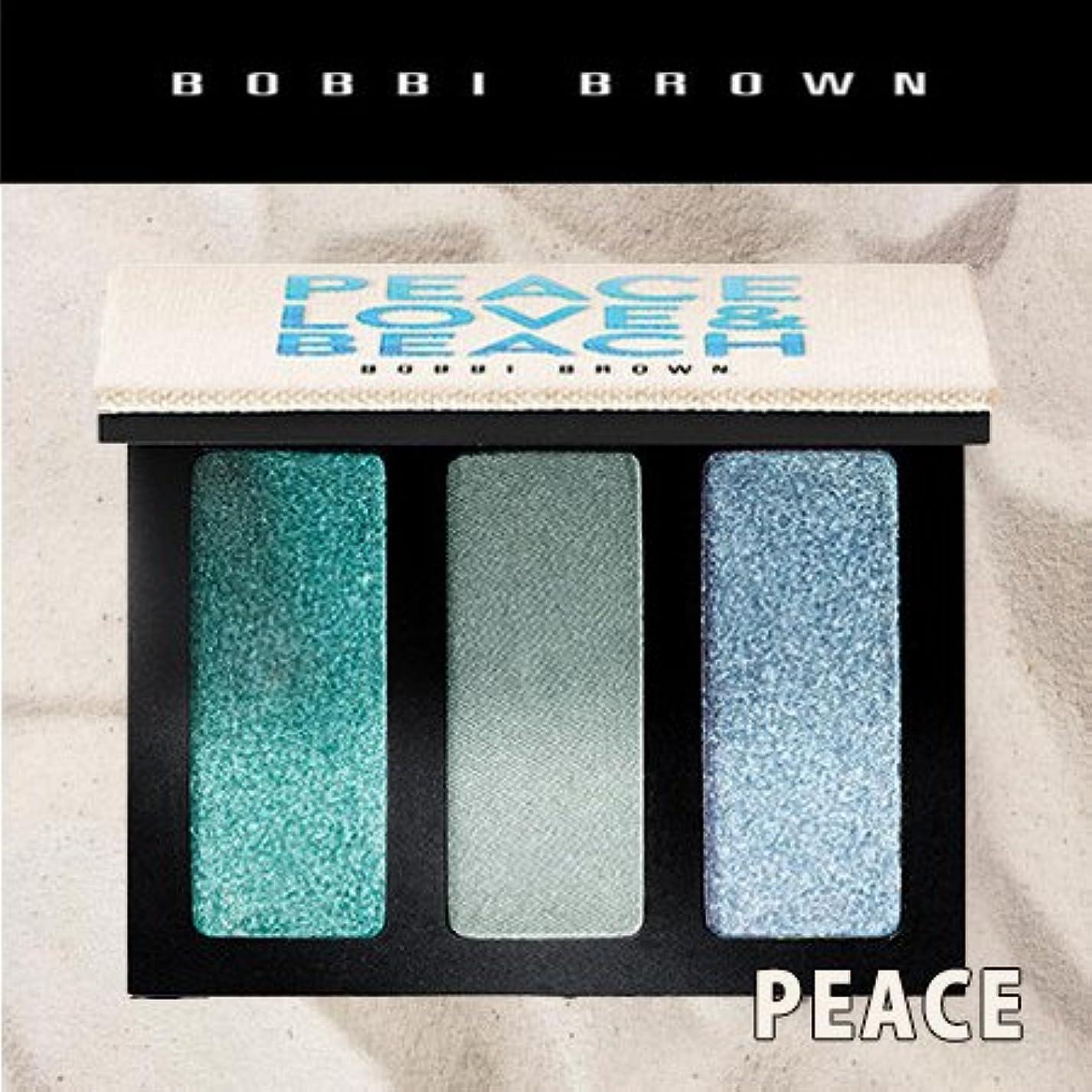 意気揚々スリップシューズ保護ボビイブラウン アイシャドウ トリオ ピース,ラブ&ビーチ #ピース PEACE (限定品) -BOBBI BROWN- 【並行輸入品】