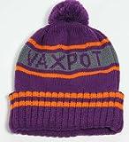 VAXPOT(バックスポット) ニットビーニー カジュアルニット帽 ボンボン ニット 帽子 スノーボード、スノボ、スキーPURPLE