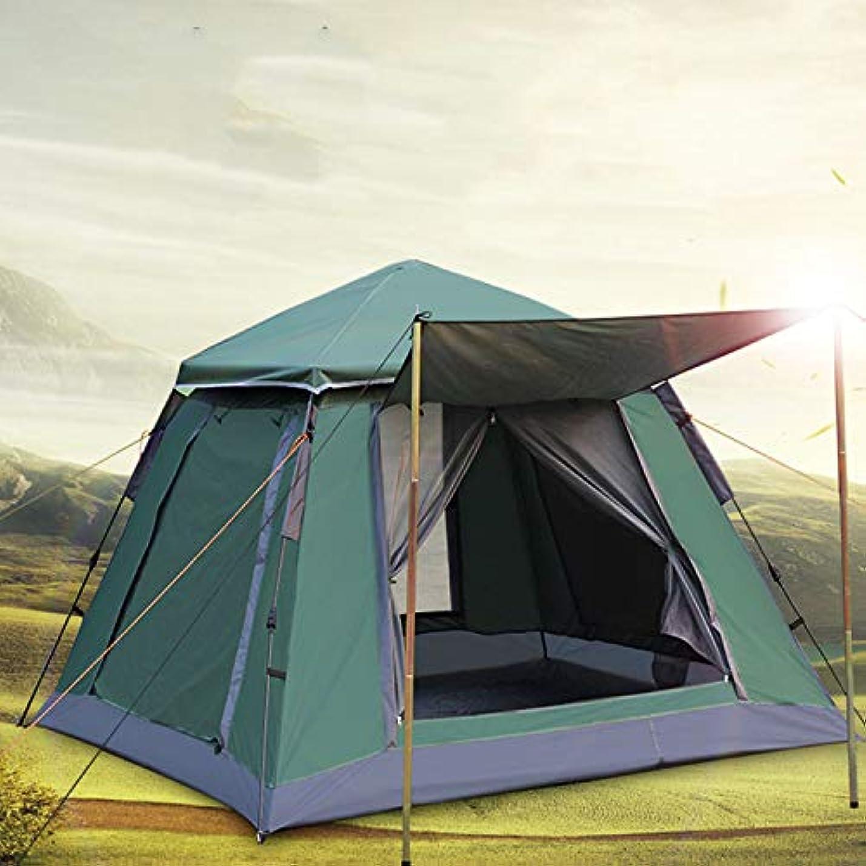 ソート思い出す騒ぎ春スタイル自動クイックオープニングテント4-5人二層テント屋外マウンテンキャンプテント