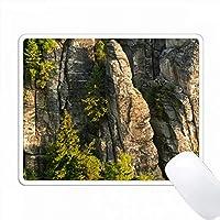 Bastei岩の形成、Elbsandsteingebirge、Saxonスイス、ドイツ PC Mouse Pad パソコン マウスパッド