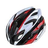 アウトドアサイクルバイクヘルメット スポーツのための取り外し可能なバイザーが付いているBasecamp BC012の循環のヘルメットの自転車のバイクのヘルメット (色 : Black Red)