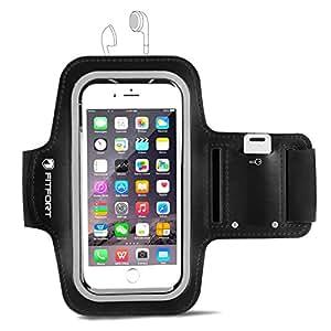 FITFORT アームバンド キーポケット付き スポーツ用 4.7インチまでのiPhone/Androidスマホに対応 ブラック