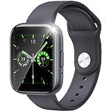 スマートウォッチ 2021最新版 Bluetooth通話 1.55インチHD大画面 搭载GPS IP67防水 天気予報 音楽 カロリー Line/Facebook/着信電話通知 久坐提醒 iphone&Android対応 日本語取扱説明書