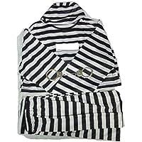 囚人服 (囚人服上下、帽子、囚人番号シール、手錠) コスチューム 男女共用 フリーサイズ
