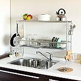 調理台が広~く使えます  シンク上伸縮水切り DX (2段)