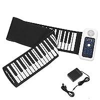 手巻きの電子ピアノ、88鍵盤キーボードUSB入力MIDI出力128リズムと音楽の録音再生音量とレートコントロールペダル