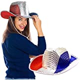 Toy Cubby Flashing 4th of July Patriotic American Sequin Cowboy Hat - 2 pieces [並行輸入品]