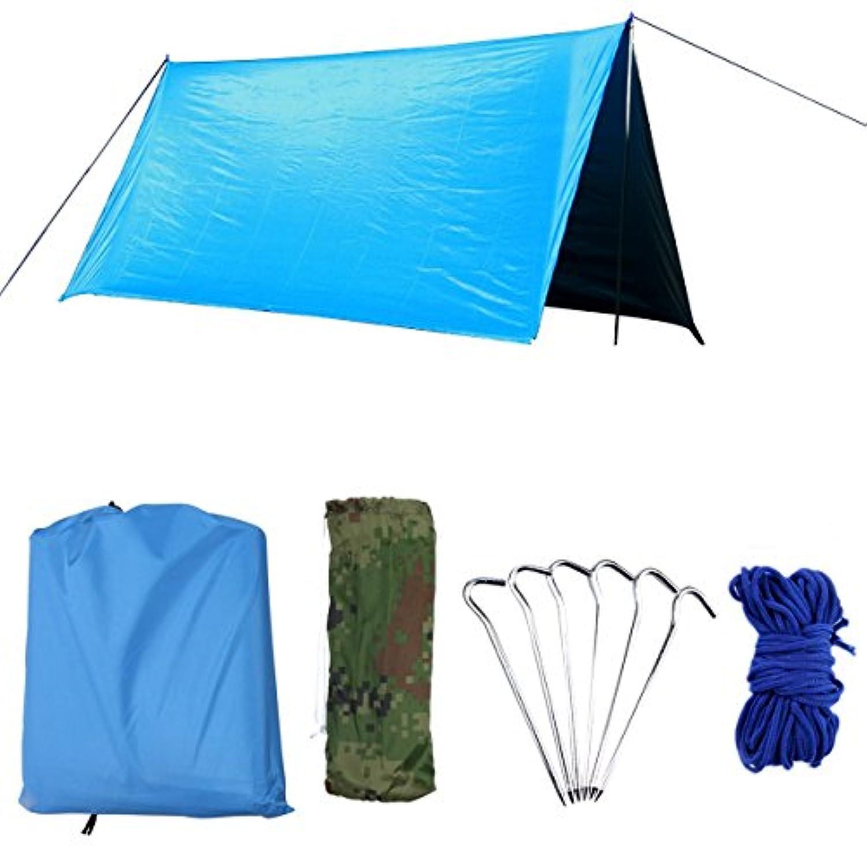 AUWOO 防水タープ 紫外線カット UVカット タープ 3m サンシェード 軽量 コンパクト 天幕シェード 運動会 キャンプ アウトドア 簡単 収納袋付き