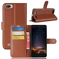 Doogee X20 Case,保護 贅沢 Premium PU Leather Wallet Case 贅沢 with Kickstand and Credit Card Slot Cash Holder Flip Cover for Doogee X20 Brown