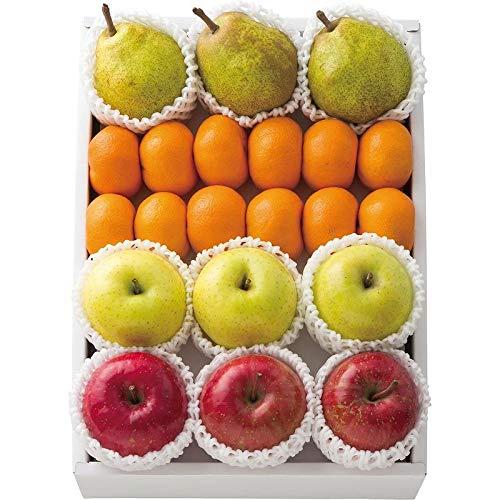 【2019 お歳暮 限定】 りんご2種&ラ・フランス&みかん詰合せ