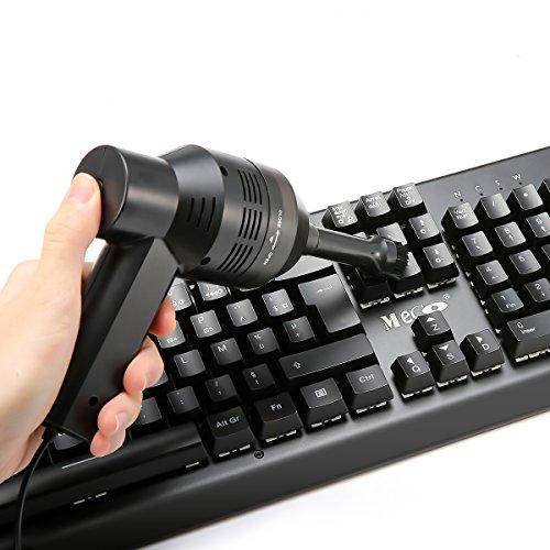 MECO ミニクリーナー USBミニノートPCキーボード掃除機 クリーナー集塵装置 卓上ブラシ USB給電 除塵 ノートパソコ キーボード ワープロのお掃除に ハンディクリーナー