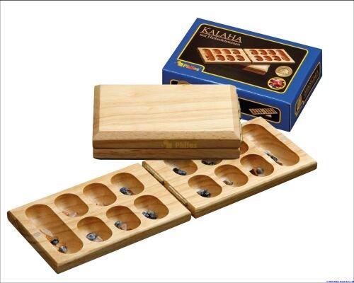 Philos Mancala Travel Game マンカラ 木製折りたたみ式 3151