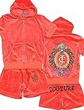 JUICY COUTURE [ ジューシー クチュール ] Juicy Couture パーカー ジャージ 上下 セットアップ ルームウェア 半袖 レディース Mサイズ [並行輸入品]