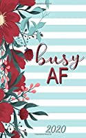Busy AF: Daily Pocket Planner: Monthly and Weekly Calendar Schedule Organizer and Hand Lettering Notebook, Planner Organizer