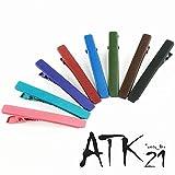 [ATK21] (2本セットLサイズ) マットカラー クリップピン ダッカール シンプル 無地 前髪 艶消し レディース ヘアアクセサリー 大人可愛い (ブラウン)