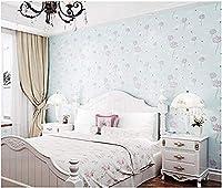 Hnyyjパストラルスタイルの3Dタンポポの壁紙寝室リビングルームのテレビの背景の壁紙バイオレット@ブルー