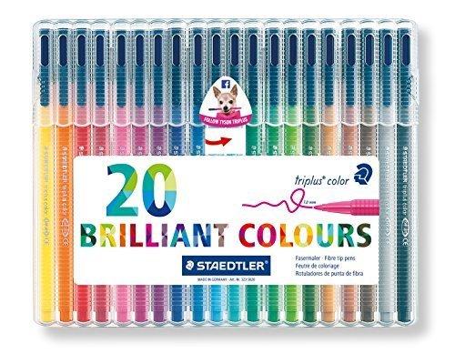 [해외]Staedtler Triplus Color Fiber Tip Pens~ 323SB20P by Staedtler Inc. [병행 수입품]/Staedtler Triplus Color Fiber Tip Pens~ 323 SB 20 P by Staedtler Inc. [Parallel import goods]