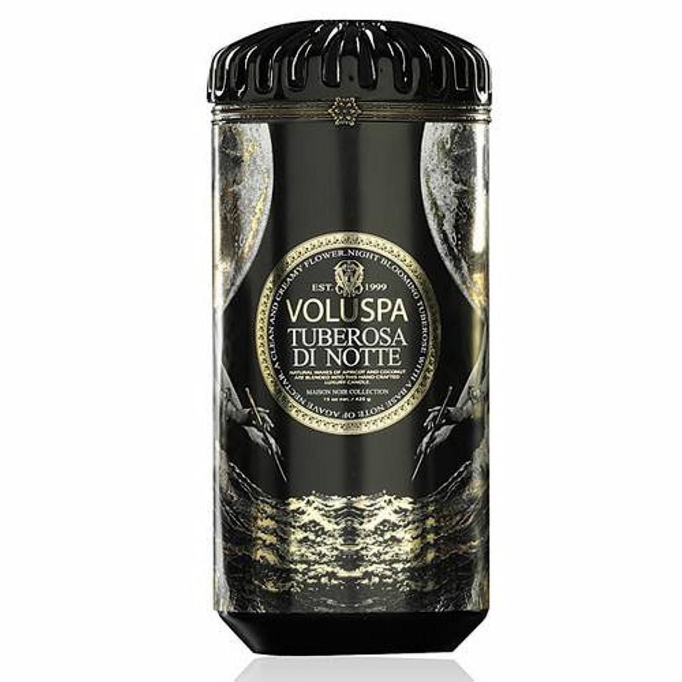 スタイル忠実またVoluspa ボルスパ メゾンノワール セラミックキャンドル チューベローズ ディ ノッテ MAISON NOIR Ceramic Candle TUBEROSA DI NOTTE