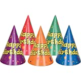 Beistle – 66009 – バルーンと紙吹雪誕生日Hats – パックof 144